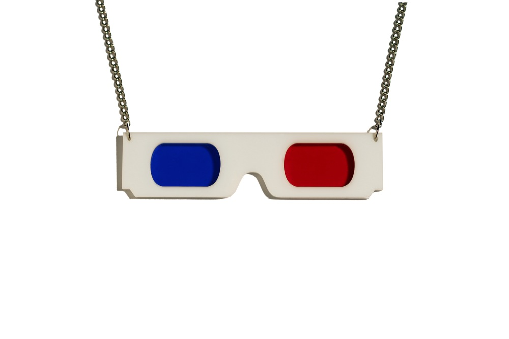 3D Glasses necklace