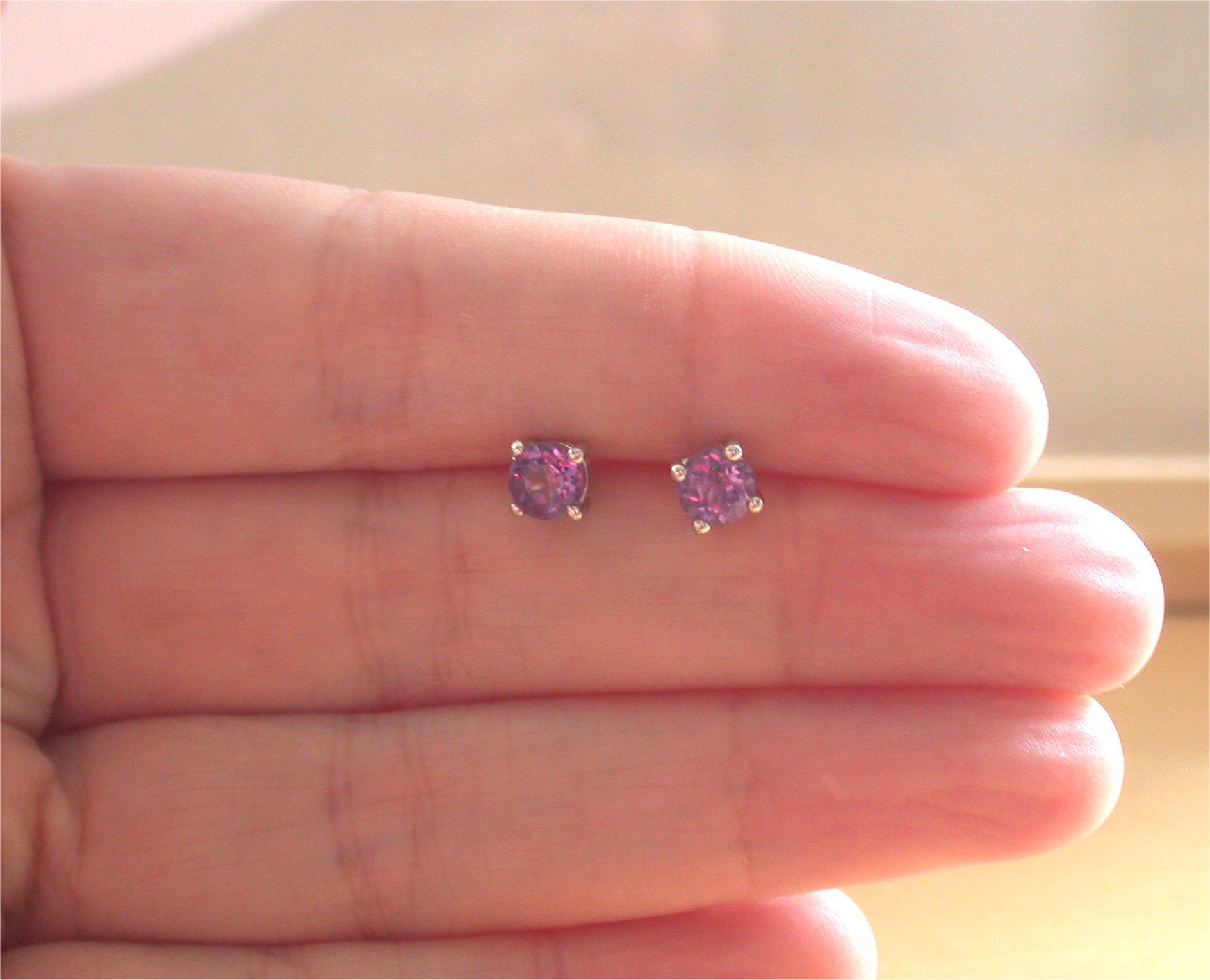 21d952c4a ... Amethyst Stud Earrings/Sterling Silver Amethyst Earrings/ Purple  Gemstone Earrings/Amethyst Jewellery/