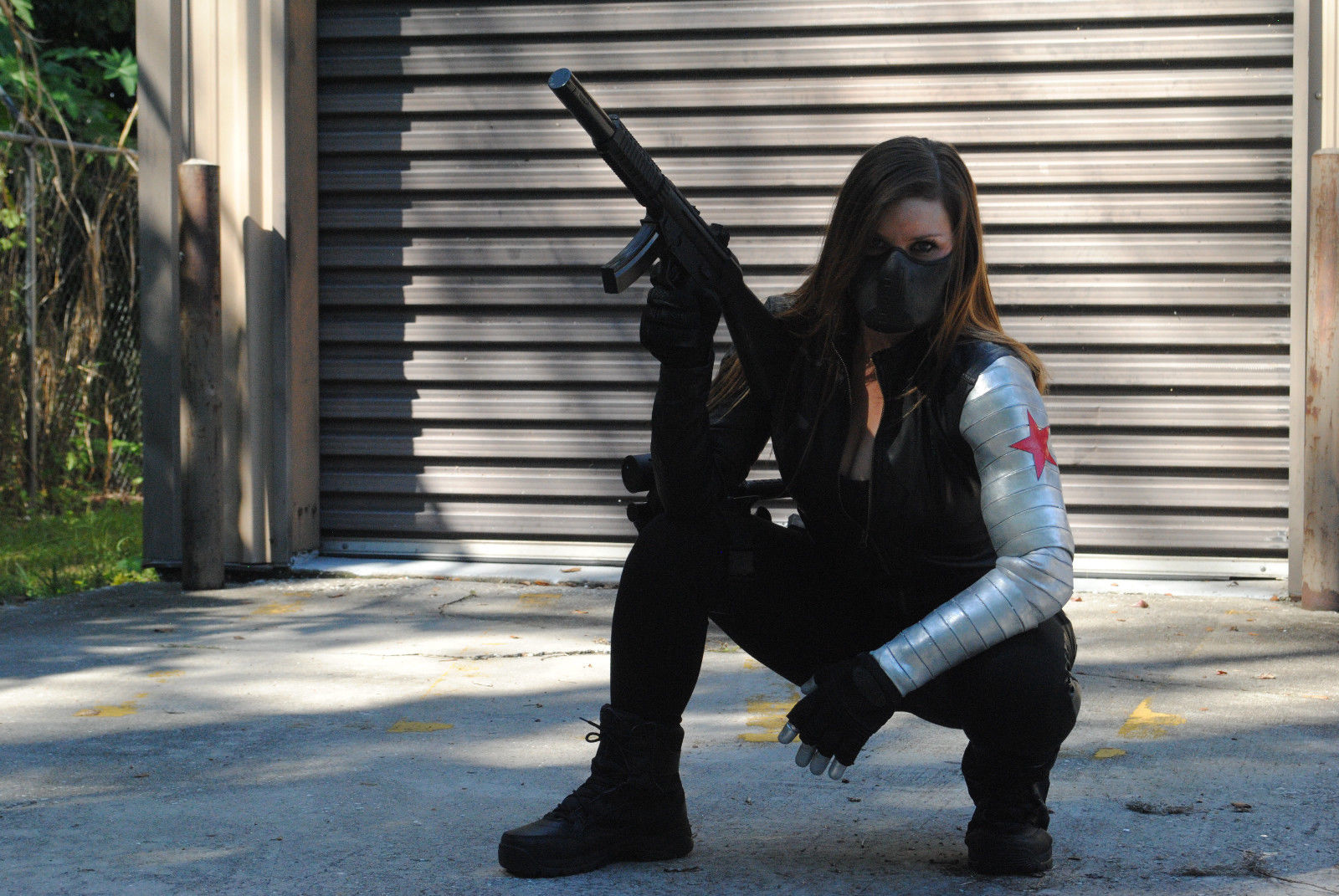 Female Captain America Bucky Barnes Winter Soldier Arm
