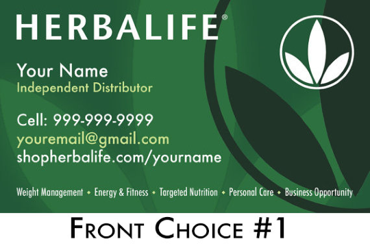 1 original - Herbalife Business Cards
