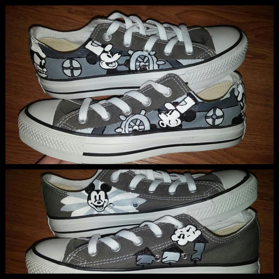 65ffb059a9c9 ... store steamboat willie hand painted custom converse shoes thumbnail 2  b7ccb ac05c ...