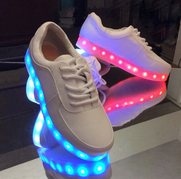 91fe5da4a54d Korea fashion couples LED colorful fluorescent USB charging light shoes -  Thumbnail 1 ...