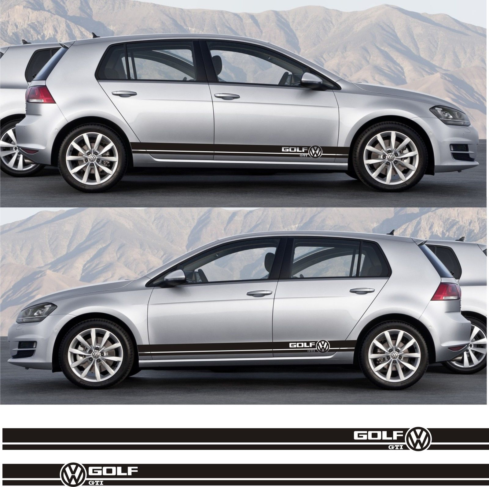 Ssk070 volkswagen vw golf gti mk 1 2 3 iv v plus car side stripe