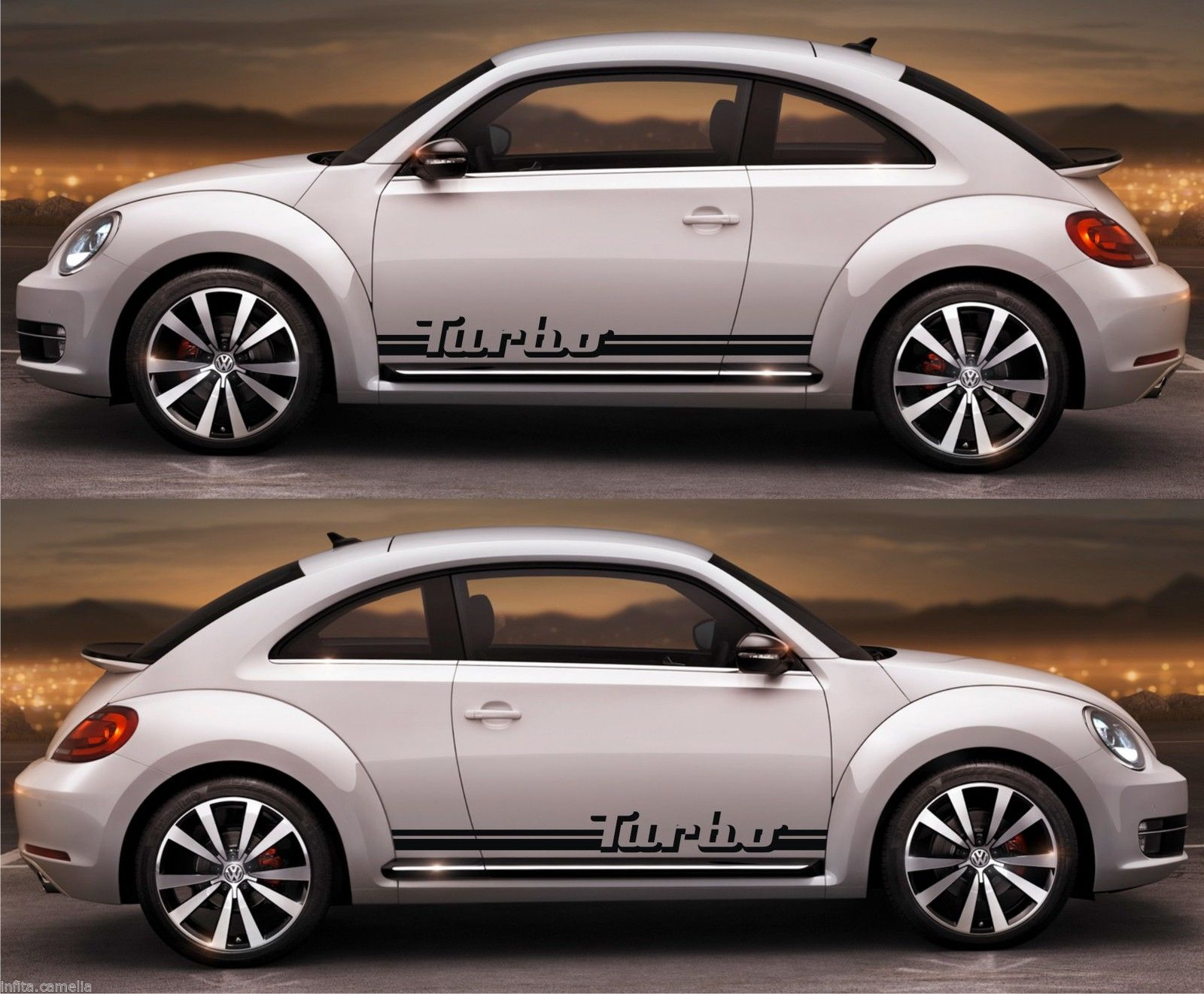 Ssk074 vw beetle volks volkswagen racing stripes sticker decal kit drift euro germany classy stance dc