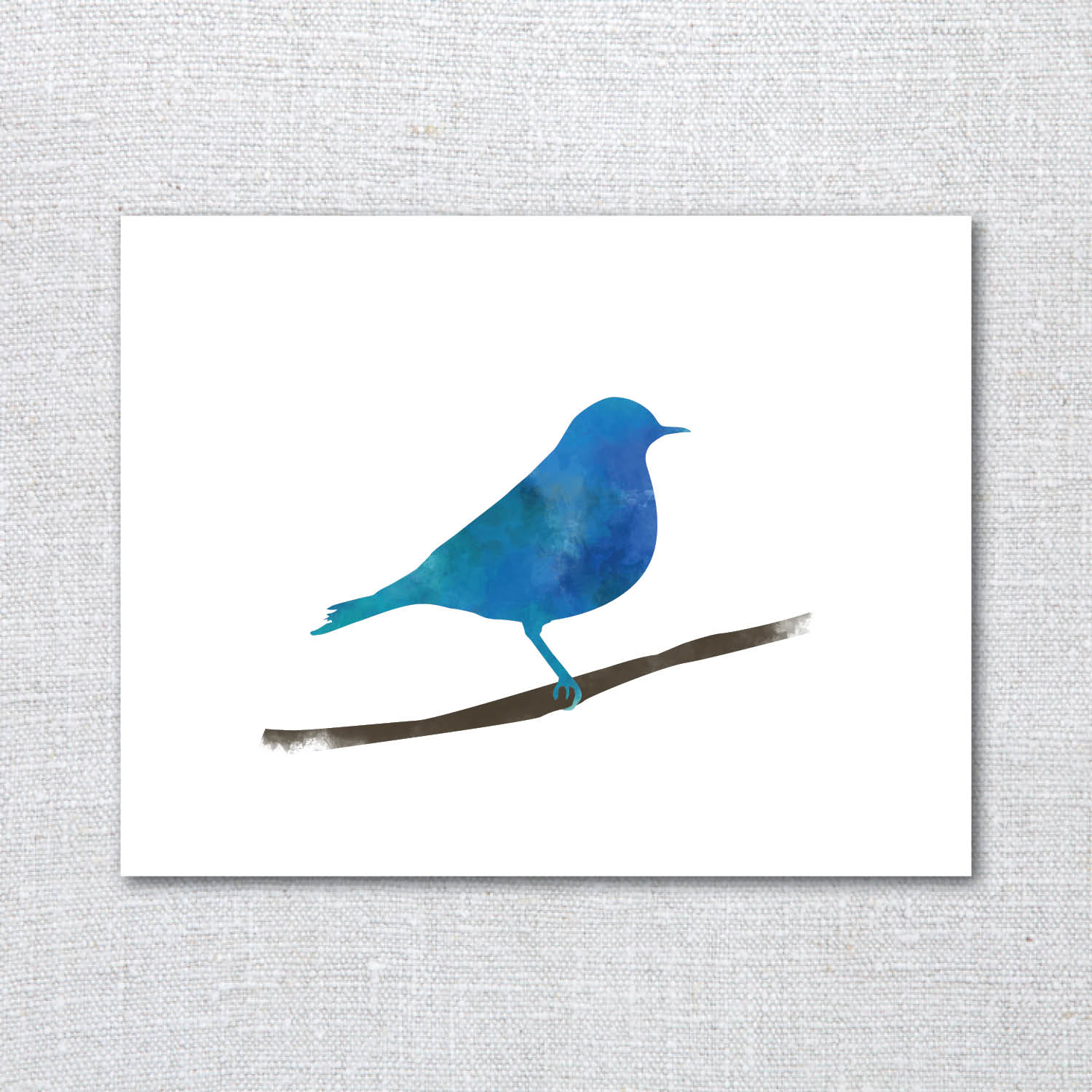 Mountain Bluebird Watercolor Greeting Card On Storenvy