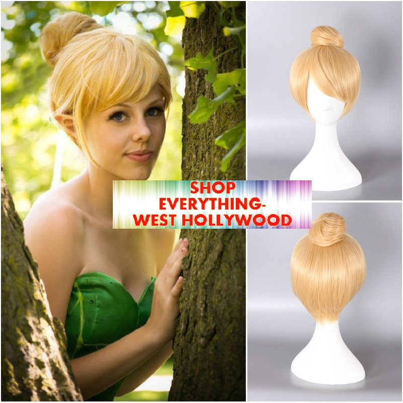 Tinkerbell Short Blonde Costume Wig Character