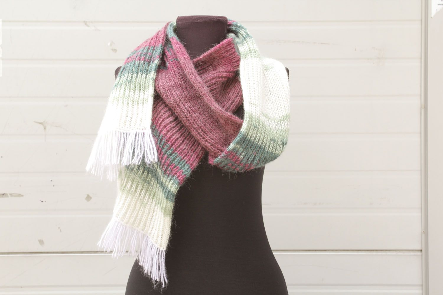 Knitted Angora Women S Scarf On Storenvy