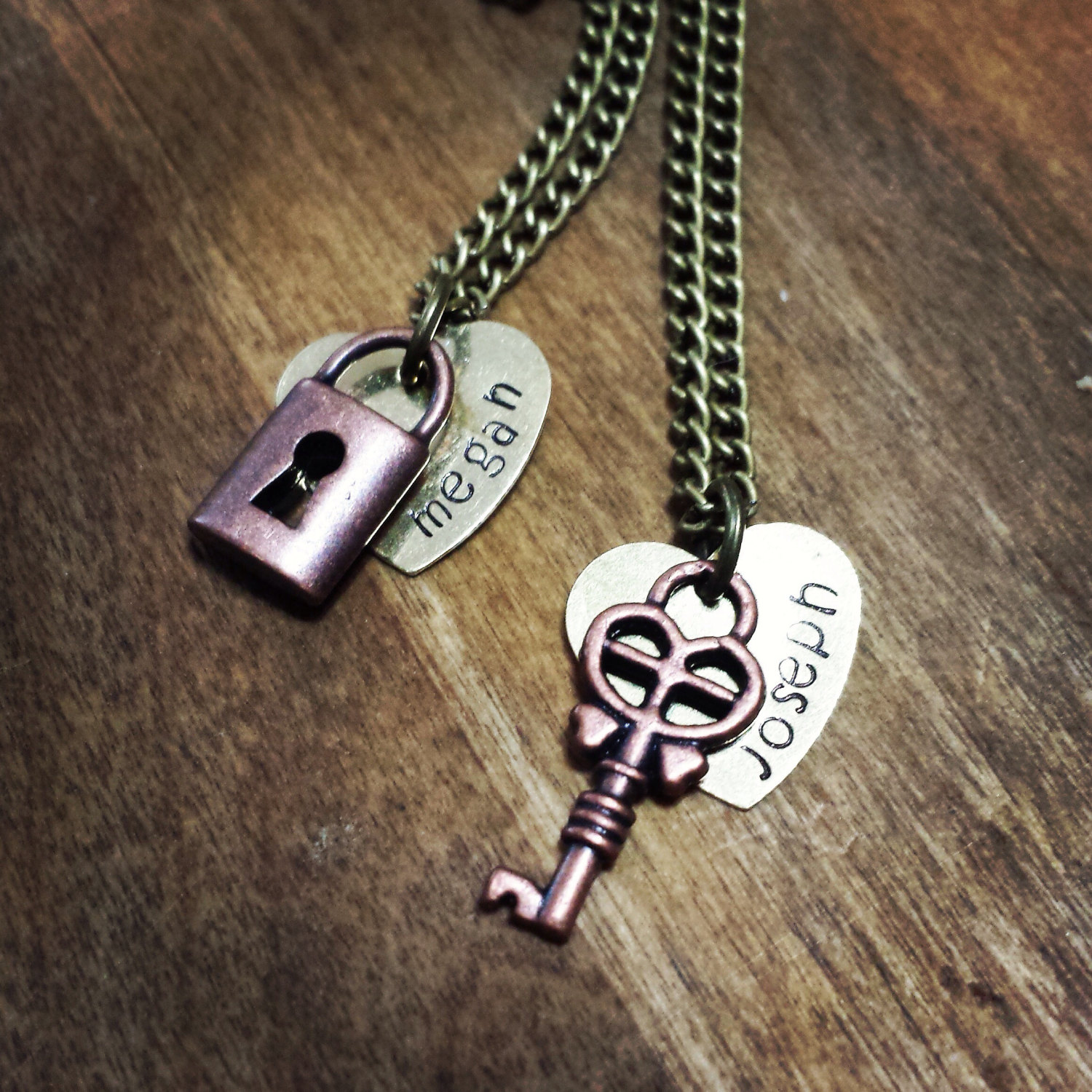 70e018e1e9 Personalized Couples Necklace Set - Lock and Key Necklace Set - Best ...