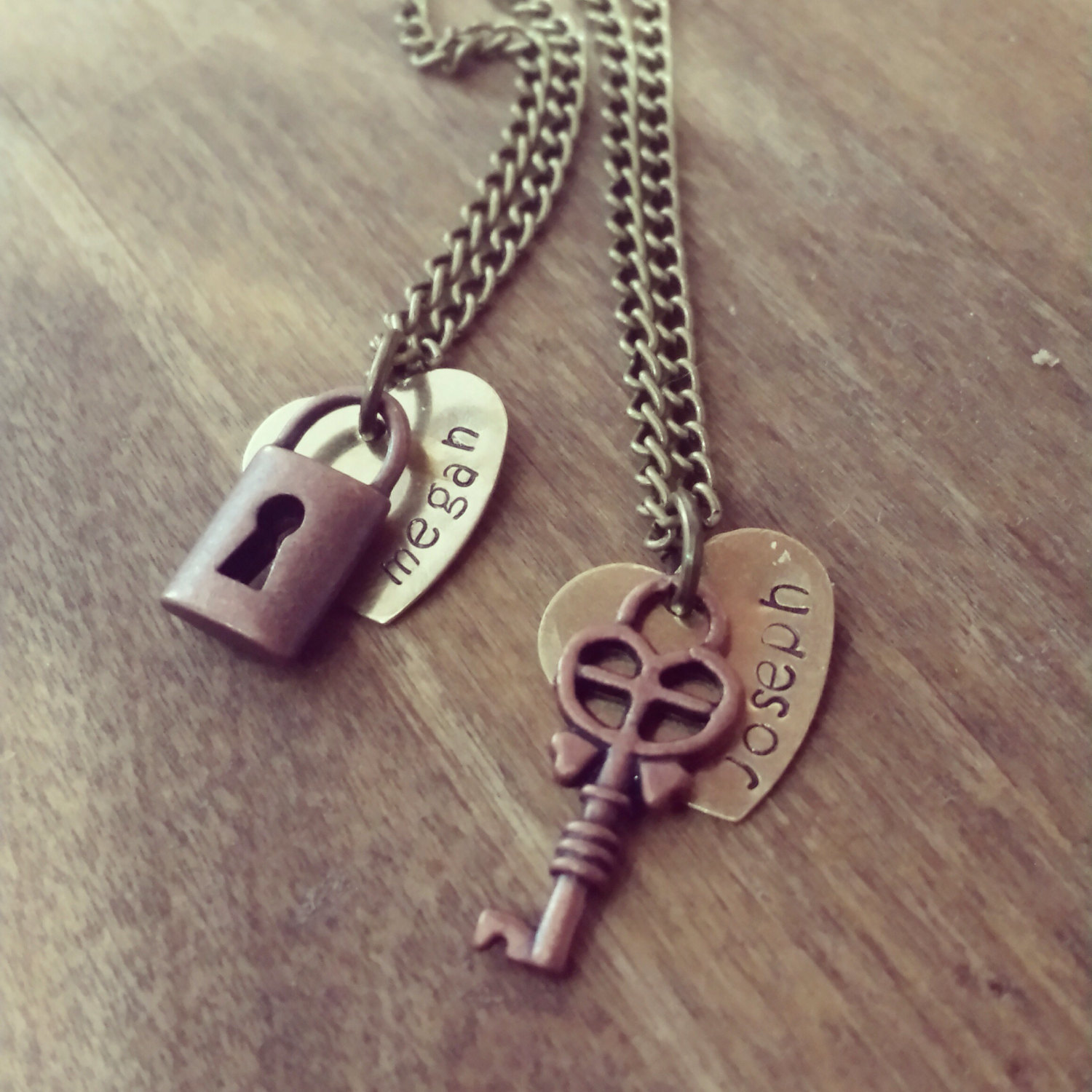 304738c2ff Personalized Couples Necklace Set - Lock and Key Necklace Set - Best Friend  Necklace - Friendship ...