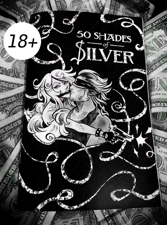 An 18+ bdsm/lingerie/money themed sketchbook of Luci and Vito from the webcomic Quick$ilver!  -measures 5.5 x 8.5 inches -features 21 pages of sketches including 2 guest pages by Toril Orlesky and Dana Guerrieri -all copies are signed!  Just want the digital .pdf instead?   BUY IT HERE!