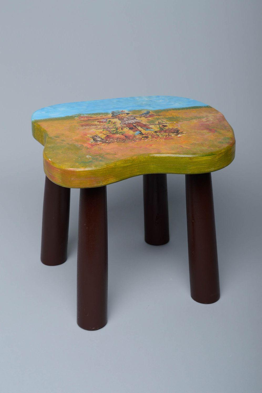 Strange Decoupage Wooden Stool Sold By Brightyouth Machost Co Dining Chair Design Ideas Machostcouk