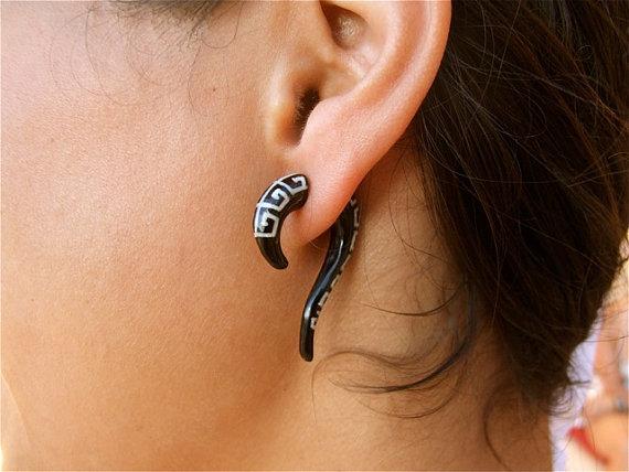 Fake Gauge Earrings Faux Gauge Earrings Fake Ear Gauge