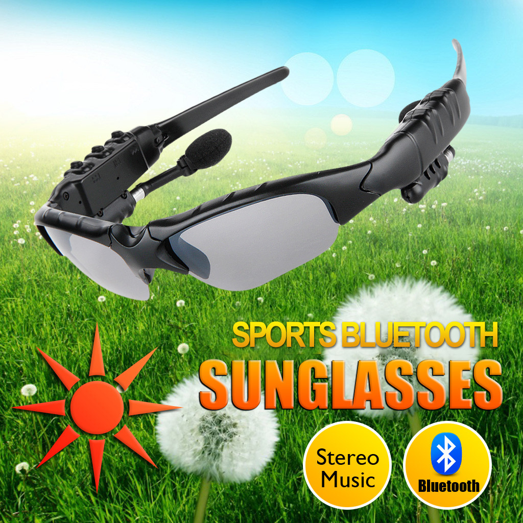 1180e0955f Excelvan Sunglasses Wireless Bluetooth Headphones Smart Glasses ...