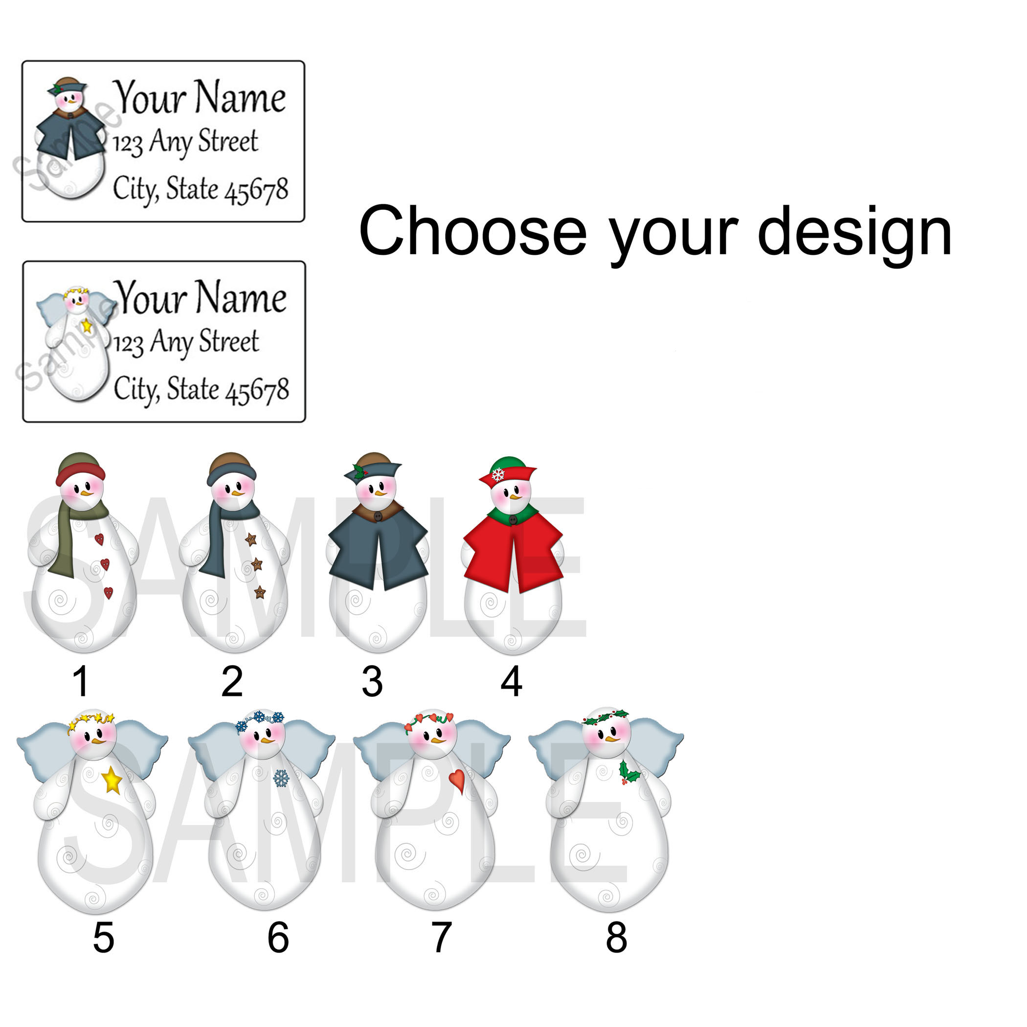 Christmas Return Address Labels.Personalized Return Address Label Stickers Christmas Address Labels Address Label Snowman Gift Tags Christmas Label Gift Tag From Paper