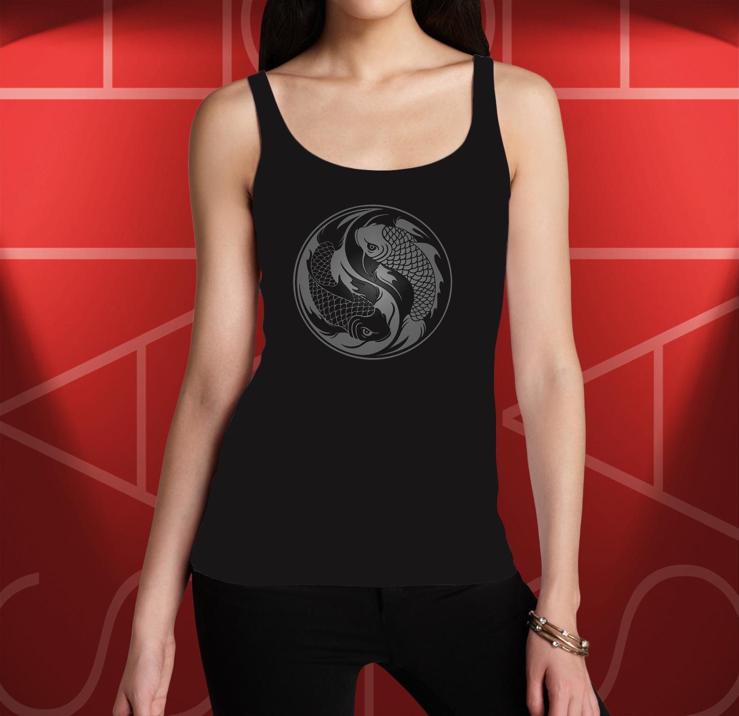 9dde746ba56e0 Koi Ying Yang Women s Graphics Tank Tops on Storenvy