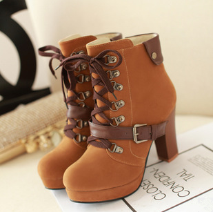 9fdd4fc036b Fashion women high-heeled martin boots from Fashion Kawaii [Japan & Korea]