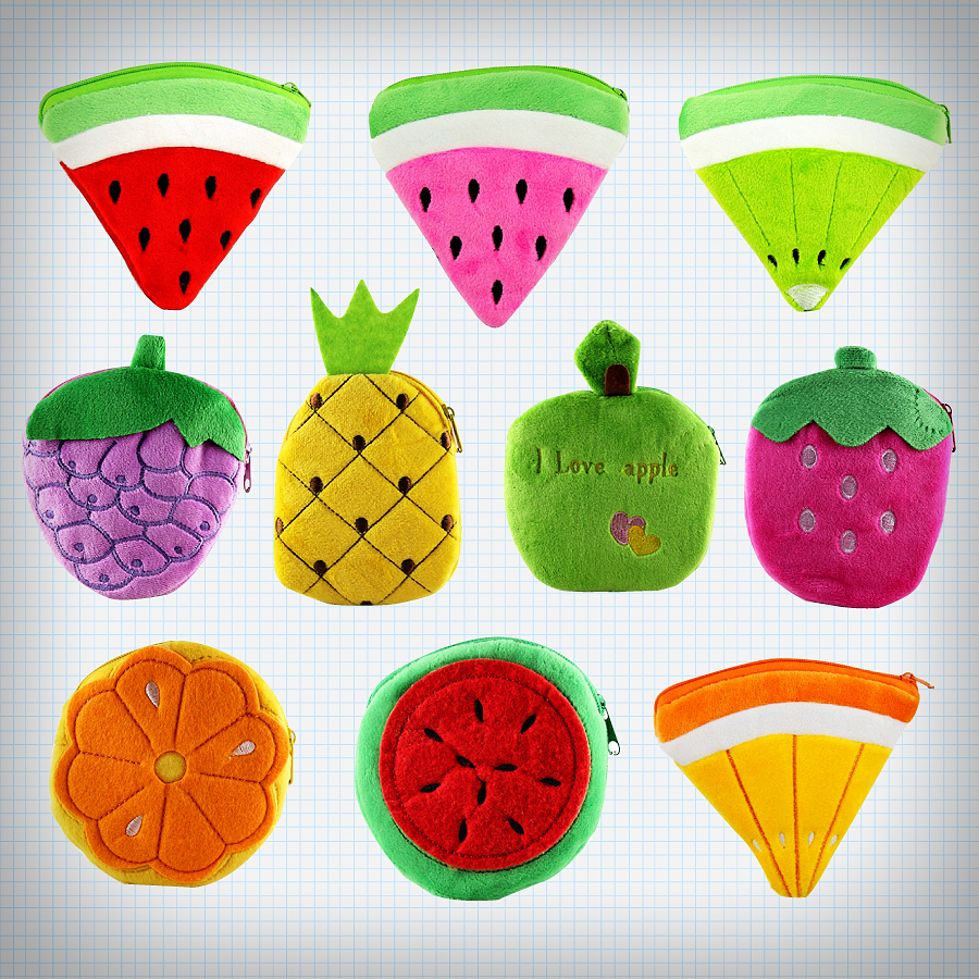 Plush Fruit Coin Purses (36562098 Ice Cream Cake) photo