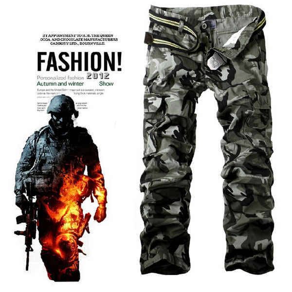 Mens Stylish Tactical Straight Camouflage Trousers Casual Long Pants/18325