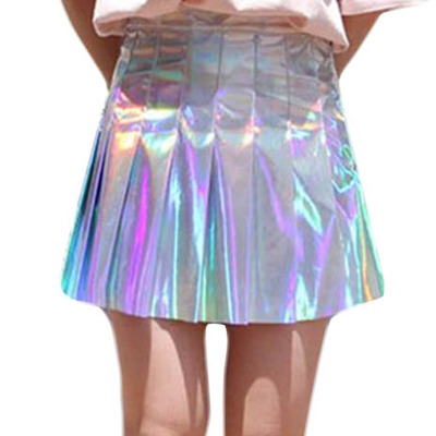 Holographic Hologram Pleated Skirt On Storenvy