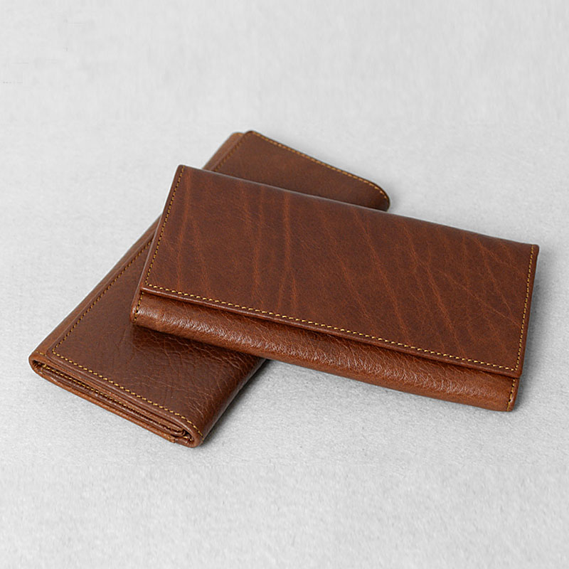 Genuine Cowhide Leather Wallet- Money Holder- Purse- Long Wallet- Handmade Wallet (36920709 J.H. Leather Studio) photo