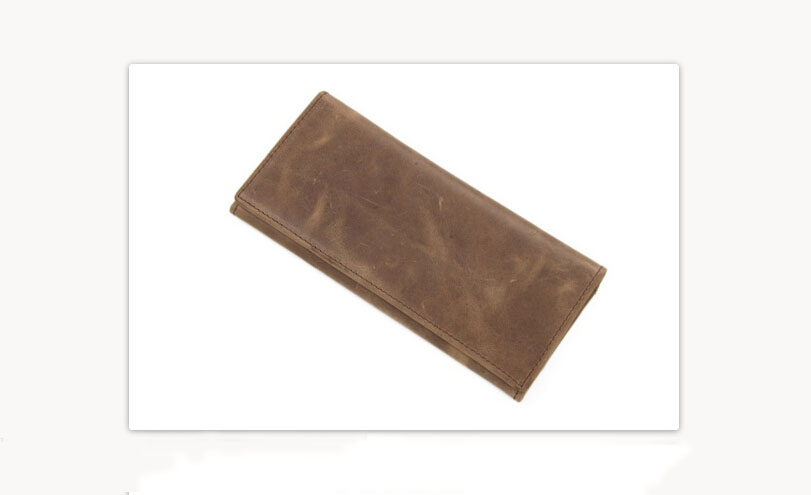 Genuine Cowhide Leather Wallet- Money Holder- Purse- Long Wallet- Handmade Wallet B1831 (36921423 J.H. Leather Studio) photo