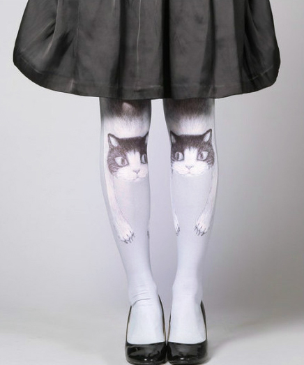 Cute Cat Tattoo Stockings Socks