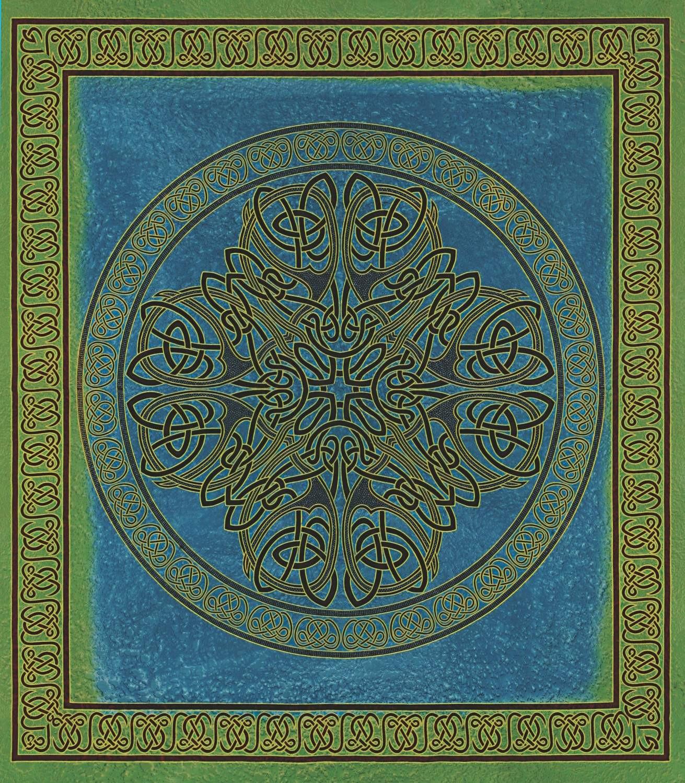 Handmade 100% Cotton Celtic Circle Wheel Of Life Batik