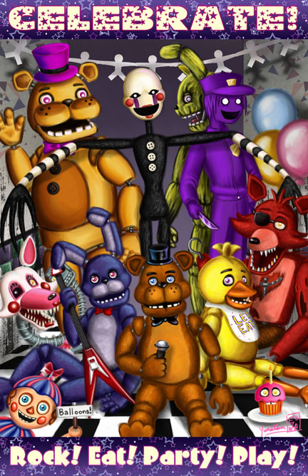 Five Nights at Freddy's Print sold by Sweet Sheep Studio