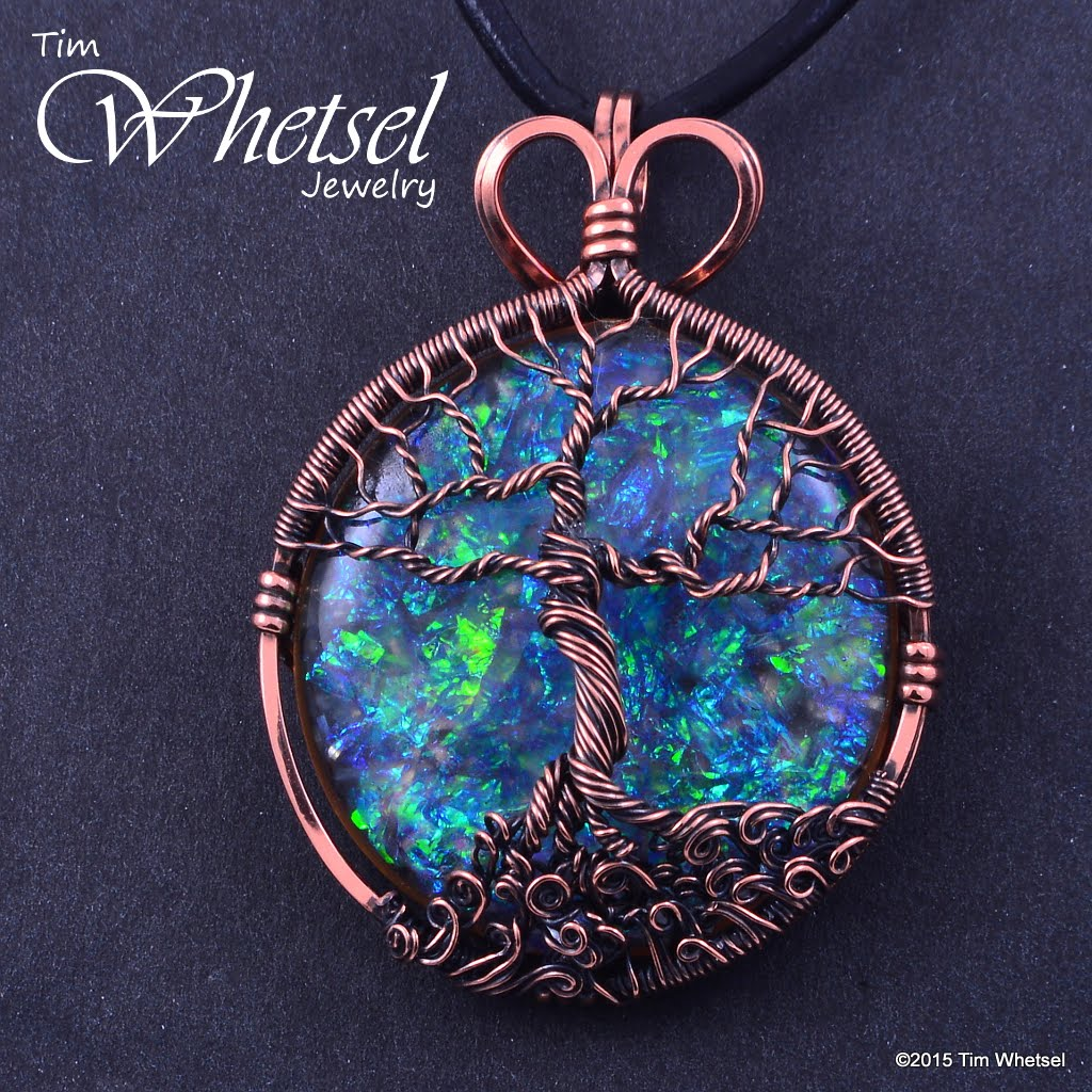 Copper Tree Of Life Orgonite Necklace Pendant Wire Wrap