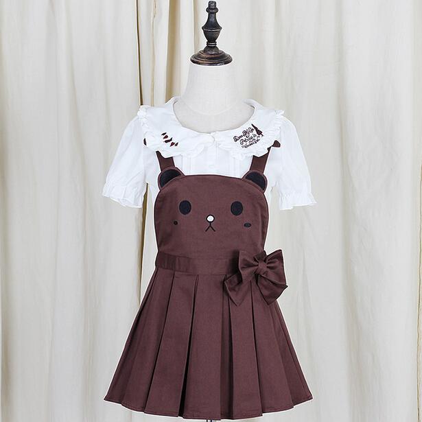 186f701f07 Japanese kawaii rabbit bear straps skirts culottes on Storenvy
