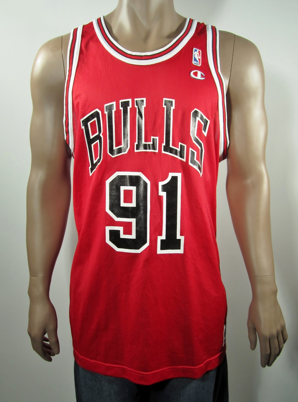 detailed look b3374 69d92 Dennis Rodman Chicago Bulls Champion Jersey 48 NWT from DFRNSH8