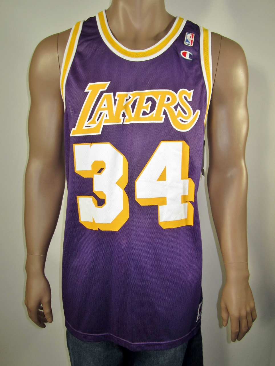 best authentic 05b5a 02352 Shaquille O'Neal Los Angeles Lakers Champion Jersey NWT