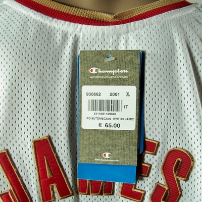 premium selection 2c7c1 f9bf6 Lebron James Cleveland Cavaliers European Issue Rookie Authentic Champion  Jersey 48 XL NWT from DFRNSH8