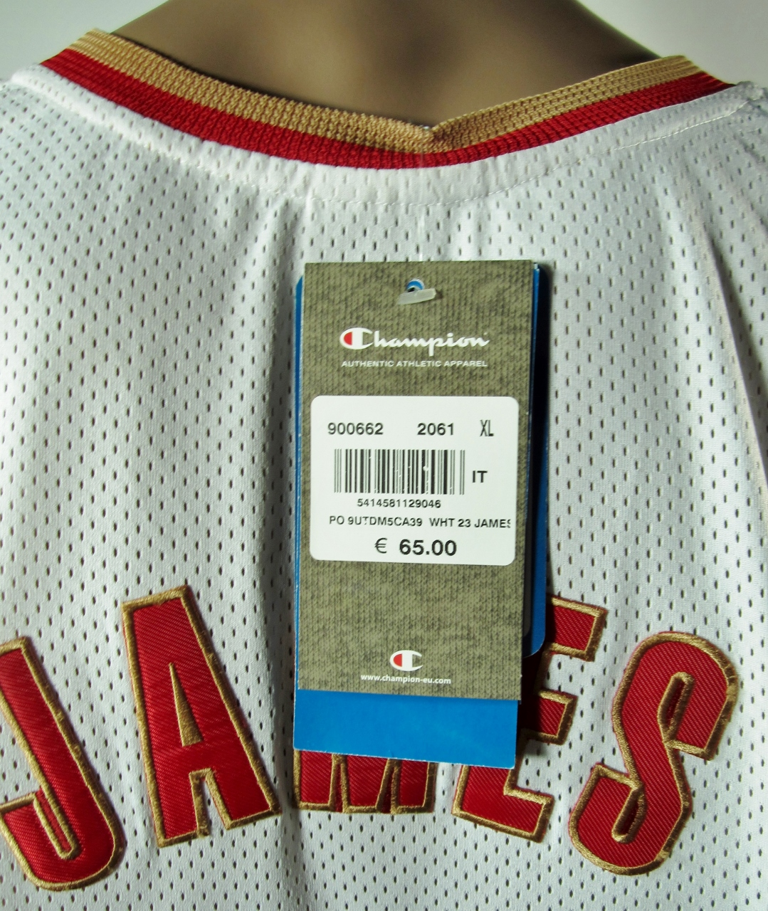 ... Lebron James Cleveland Cavaliers European Issue Rookie Authentic Champion  Jersey 48 XL NWT - Thumbnail 2 ... 4691e93c8