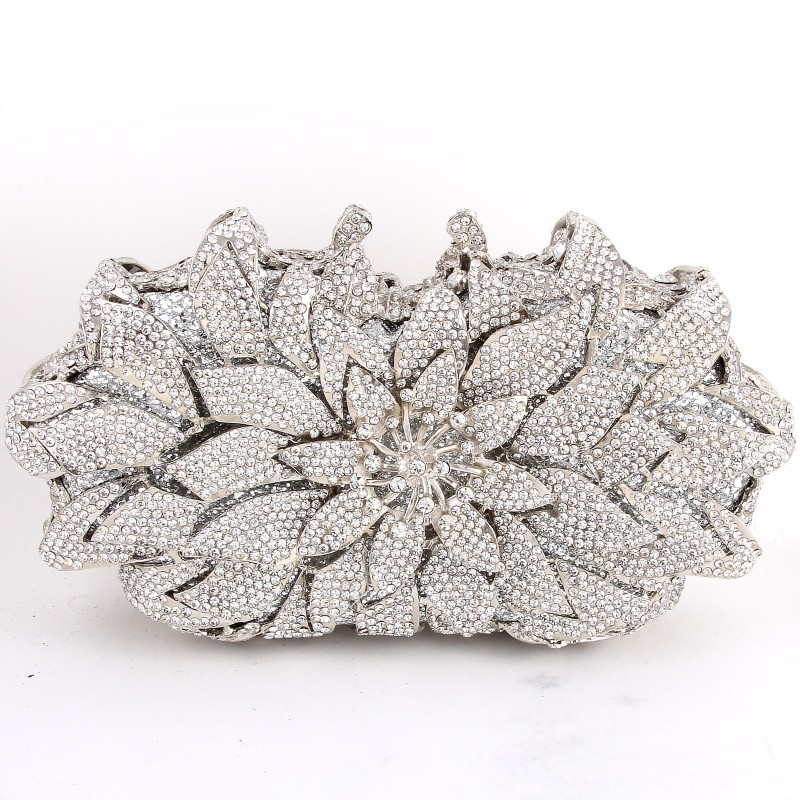 Stunning Crystal Frosty Rhinestone Bridal Formal Purse 3 Colors (37647798 Curvy Brides) photo