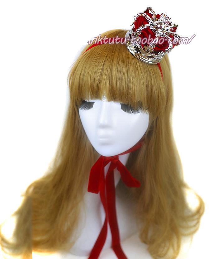 Cos Lolita Headdress Queen Three Dimensional Crown Tiara