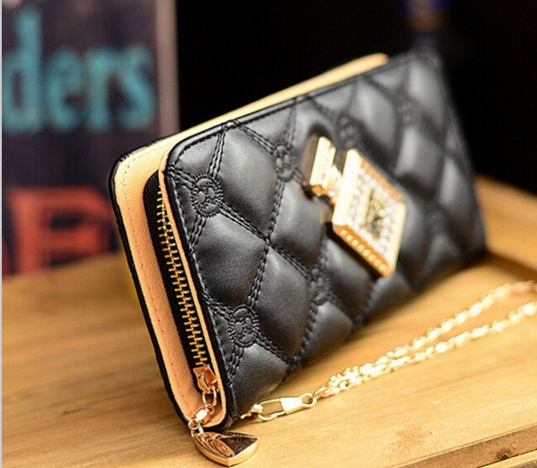 Women Leather Purse Long Style Wallet Handbags (38032560 Qualitywise1) photo