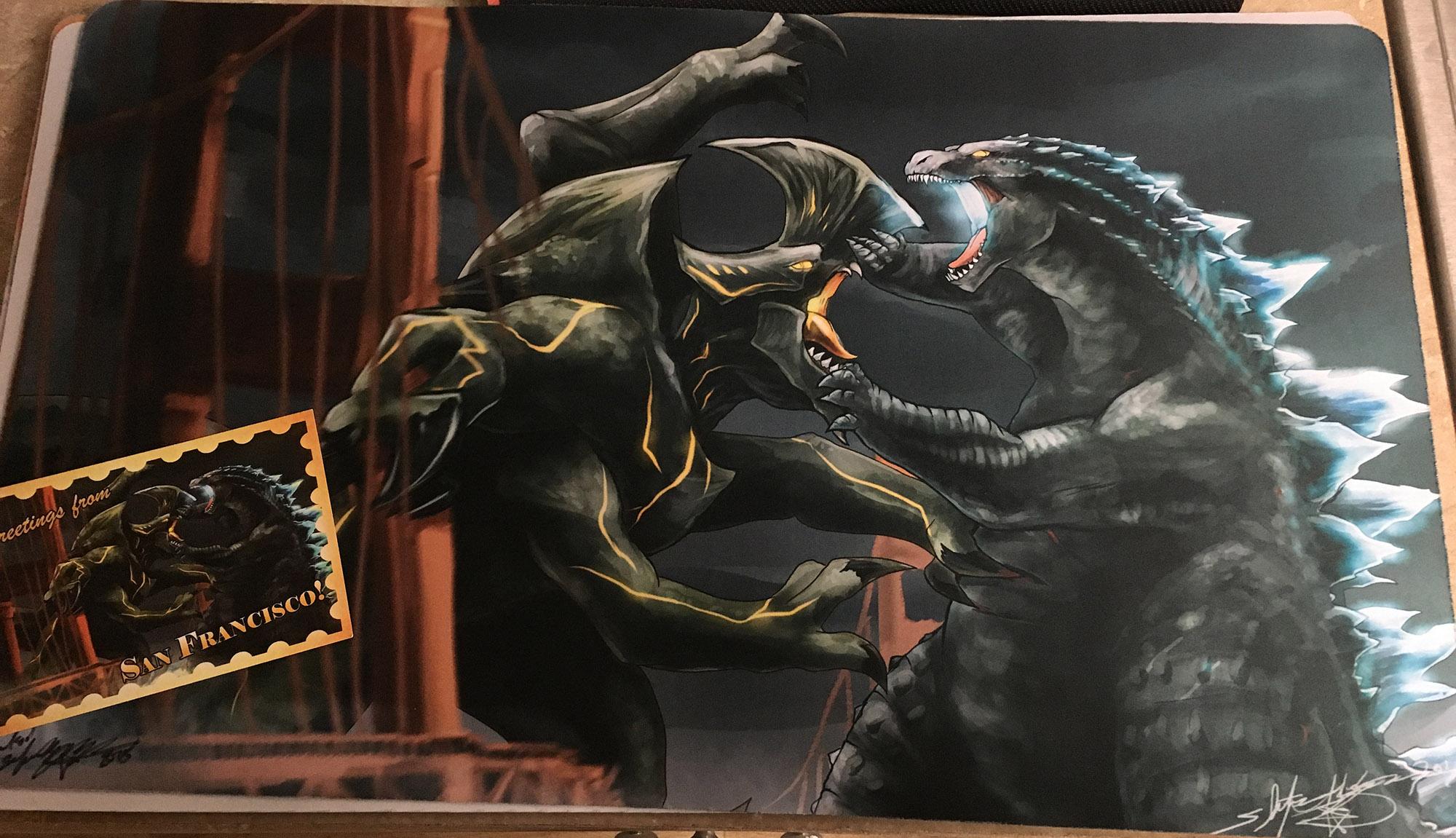 Godzilla Vs Trespasser Fanart Playmat On Storenvy