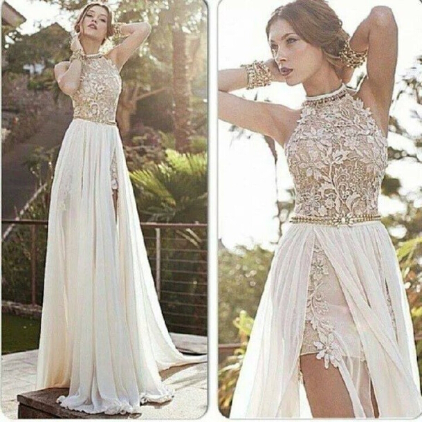 Lace prom dress, backless prom dress, sexy prom dress, prom dress ...