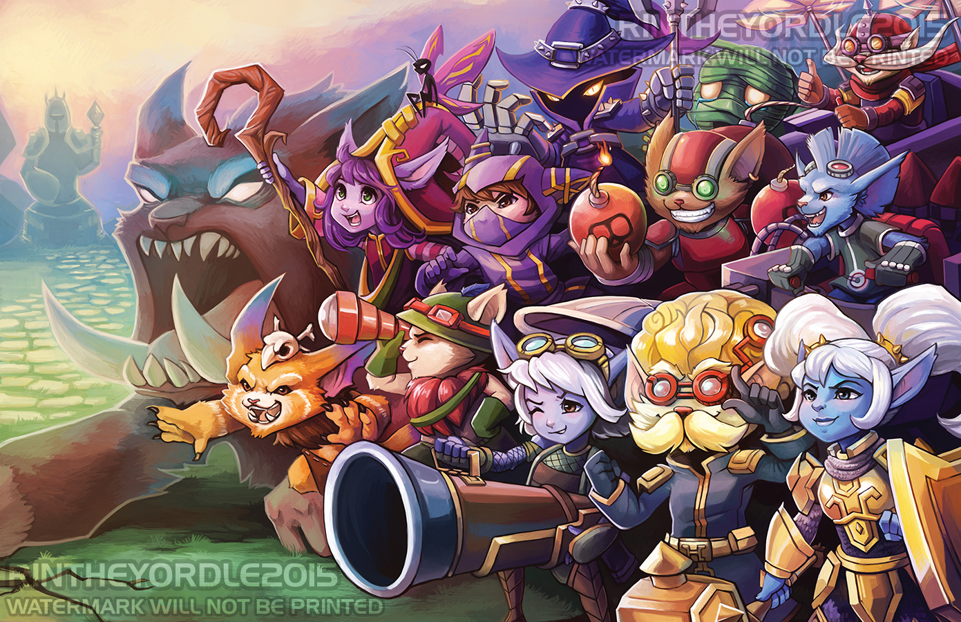 All The Yordles Poster Print On Storenvy