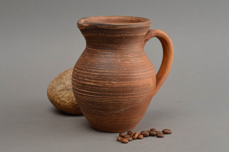 Beautiful homemade ceramic water jug unusual clay milk jug 350 ml gift ideas
