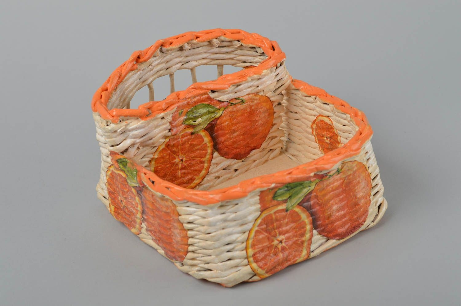 Beautiful Handmade Paper Basket Newspaper Craft Room Decor Ideas