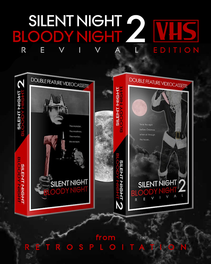 Image of Silent Night Bloody Night 2 Double Feature VHS