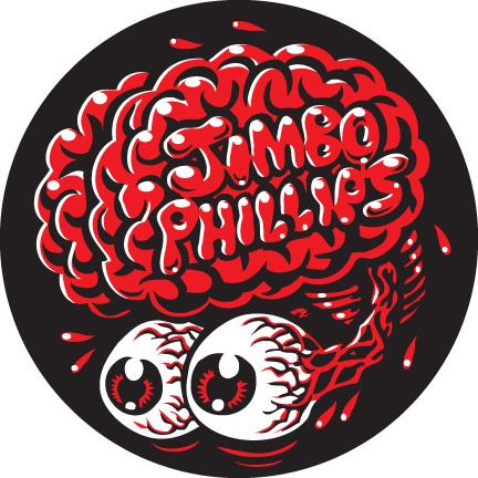 Jimbo brain full color shaped vinyl sticker