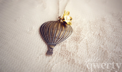 Come Away With Me - Hot Air Balloon Necklace