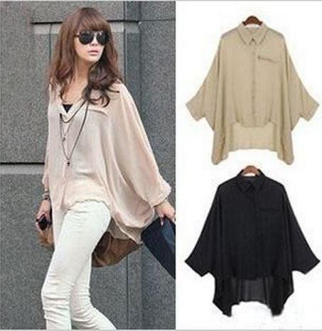 ad0230cbf Women Chiffon Blouse Batwing Sleeve Shirt Top on Storenvy