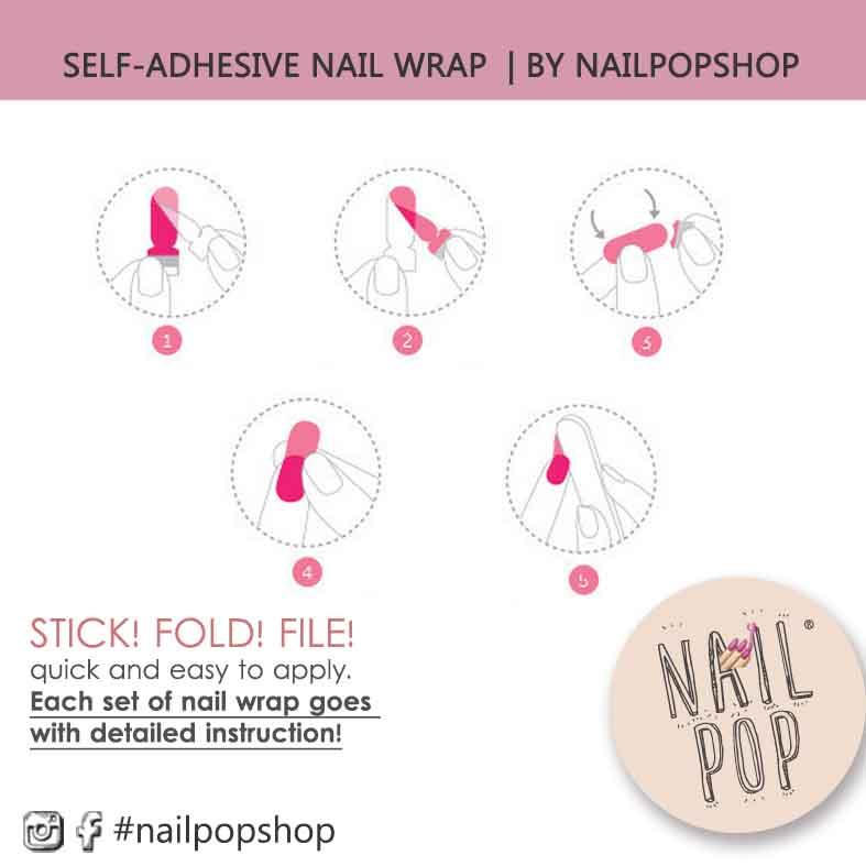 Mint Color (Style no. 09) Self-adhesive Nail Wraps Nail Decals/ Nail ...