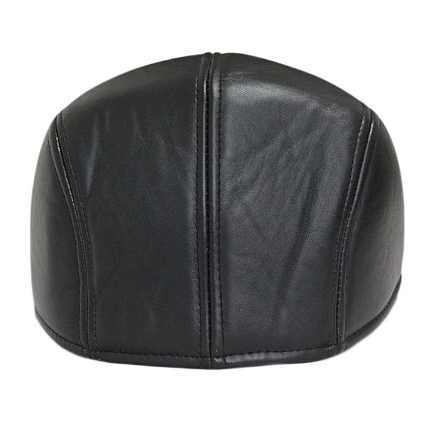 e7cb96602571a4 ... Unisex Men Women Artificial Leather Newsboy Beret Hat Duckbill Cowboy  Golf Flat Cabbie Cap - Thumbnail