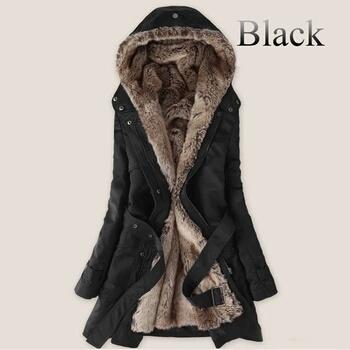 Womens Faux Fur Parka Jacket