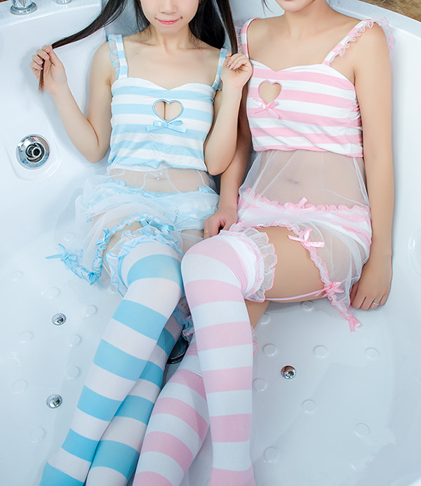 4fc70796815 Cute love cut out sexy lingerie pajamas free shipping · HIMI Store ...